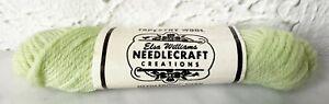 Vintage Elsa Williams Needlecraft 100% Wool Tapestry Yarn-1 Skein Lt Green #N425