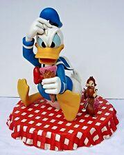 Disney Big Figure Donald Duck with Chip and Dale Picnic Ice Cream Statue RARE