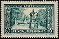 "MONACO STAMP TIMBRE 124 "" PLACETTE FRANCOIS BOSIO 65 C ""  NEUF x TB"