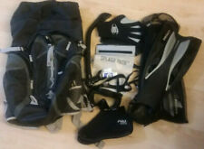 Promate Snorkeling Set Panoramic Goggles/Dive Mask Flippers/Fins Gloves Backpack