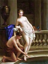 PAINTING INTERIOR STUDY VIEN TWO WOMEN BATHING LARGE ART PRINT POSTER LF1569