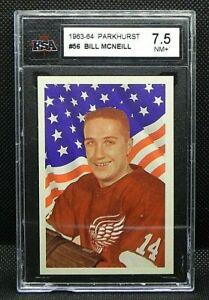 1963-64 63/64 Parkhurst #56 Billy McNeill Detroit Red Wings KSA 7.5 NM+