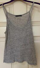 Brandy Melville knit spaghetti strap top 100% linen, grey