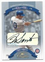2002 Donruss Significant Sigs baseball card autographed Ron Santo Chicago Cubs