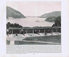 View Up Hudson River from West Point- New York-1894 Lithograph