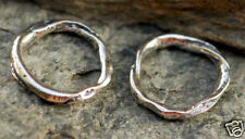 Organic Rustic Artisan Made LINK in Sterling Silver