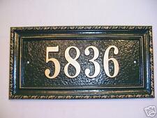 Custom Cast Aluminum House Plaque sign
