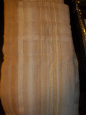 Croscill Sheer Tailored Panel Taylor Sheer Ivory Gold Striped Nwt Curtain Drape