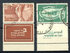 ISRAEL   MI# 30/31  CV €260   USED  GESTEMPELD  LUXE