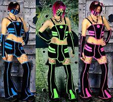 Cryoflesh Cryo Tron Gogo Cyber Goth Punk Rave EBM EMO Clubwear Outfit