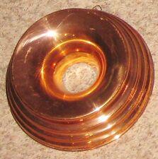 Metal 8 1/2 Sleek Copper Round Tube Jello Art Mold