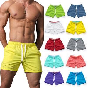 Summer Men Short Pants Beach Shorts Athletic Gym Sports Fitness Shorts S-3XL
