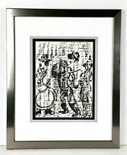 "Marc Chagall 1960 Original Lithograph ""The Musicians"" Framed"