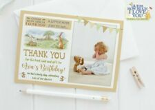 10 Personalised Photo Rainbow Thank You Cards Unicorn Birthday Thankyou Notes