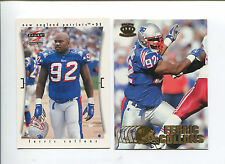 Ferric Collons 2 card lot California Golden Bears / New England Patriots