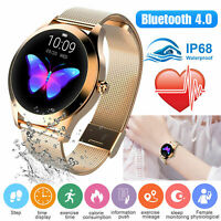 KW10 Smart Watch Lady IP68 Fitness Tracker Heart Rate Monitor For iOS Android