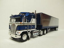 DCP 1/64 SCALE KENWORTH K-100 BLUE & WHITE WITH BLUE & CHROME REEFER TRAILER