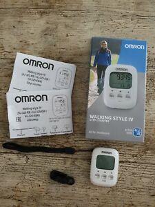 Omron Schrittzähler Walking Style IV weiss ,Gebraucht mit Garantie