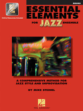 """""""ESSENTIAL ELEMENTS FOR JAZZ ENSEMBLE""""-DRUMS MUSIC BOOK W/ONLINE ACCESS NEW SALE"""