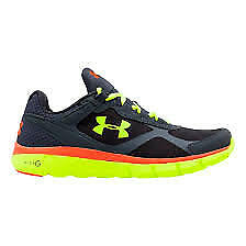 Under Armour Men's Micro G Velociti Athletic Shoes Black/Yellow Size 13.0M