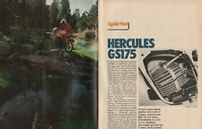 1976 Hercules GS175 - 10-Page Vintage Motorcycle Road Test Article
