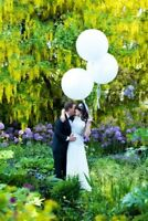 White Balloons 3 ft giant round large giant balloons wedding bride latex engaged
