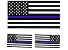 #128 - THIN BLUE LINE B&W AMERICAN FLAG Helmet / Tank 3 sticker pack 1026 Police