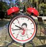 Rare Retro Betty Boop 2009 Twin Bell Red Alarm Clock Analog SEE DESCRIPTION Cute