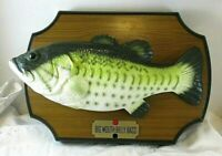 Vtg 1999 Gemmy Big Mouth Billy Bass Singing Fish Wall or Desk Parts or Repair