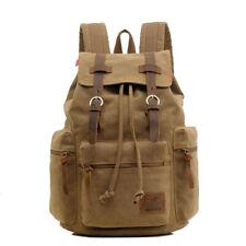 Fashion Men Backpack Vintage Canvas Travel Bag Large Laptop Computer School Pack