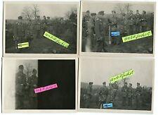 4 Fotos : Soldaten der Luftwaffen-Feld-Division mit Panzerfaust im 2.WK