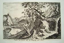 Ancona Italien Italia Landschaft Küste   Küsell nach J. Baur  Kupferstich  1682