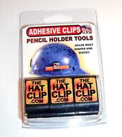 hard hat PENCIL CLIP HOLDERS 3 PACK ORIGINAL adhesive carpenter construction