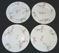 Theodore Haviland Limoges France 4 Bread Plates Schleiger 339c