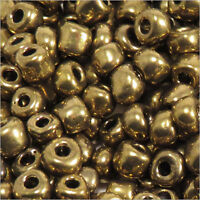 rocaille glass seed beads Opaque 4mm Bronze glistening 20g (6/0)