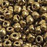 cuentas de rocalla de vidrio Opaco 4mm Bronce reluciente 20g (6/0)