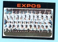 1971 Topps # 674 Montreal Expos Team card  (EX-MT)    Lot # 702