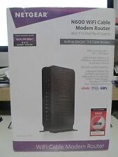 NETGEAR N600 CABLE MODEM AND WIRELESS WIFI ROUTER C3700 - BRAND NEW