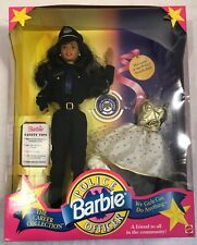 BARBIE 1993 POLICE OFFICER CAREER COLLECTION AFRICAN AMERICAN DOLL NRFB #10689