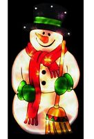 Premier Christmas Light Up Snowman Silhouette Decoration