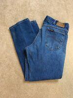 Vintage Distressed Mens USA Lee Light Great Faded Blue Jeans Denim Size 36x30