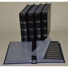 Briefmarkenalbum, Einsteckbuch, Einsteckalbum, 60 schw.Seiten, schwarz, 5er-Kart