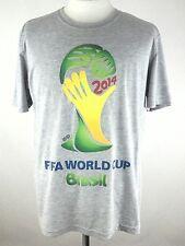 EUC Adidas Brasil Soccer Worldcup 2014 Heathered Gray T-Shirt Large L