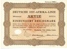 Deutsche Ost Afrika Linie Hamburg  1932 Woermann DOAL