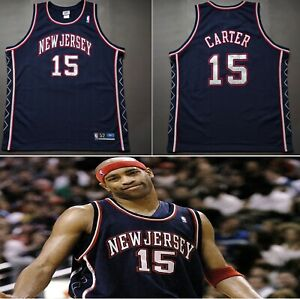 NEW JERSEY NETS Authentic Reebok Jersey VINCE CARTER Retro Vintage Stitched NBA