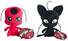Miraculous: Tales of Ladybug & Cat Noir ~ TIKKI & PLAGG PLUSH SET ~ Bandai