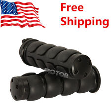 "Motorcycle Black Hand Grips 7/8"" Throttle Boss For Yamaha FZR YZF 600 600R R1 R6"
