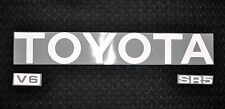 NEW! REFLECTIVE WHITE SILVER 89-95  TOYOTA TRUCK TAILGATE LOGOS DECAL STRIPE