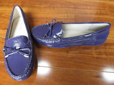 NEW Michael Kors Daisy Moc Leather Moccasins Shoes WOMENS 7 Iris Violet $99.00