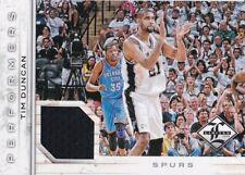 Tim Duncan 2012-13 Limited Performers Materials /199  HOF Spurs Game used !!
